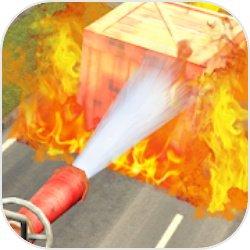 消防员快速灭火3D图标