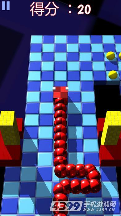 方块小蛇游戏截图