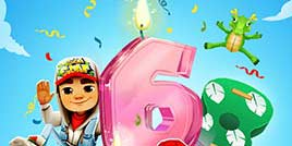 《地铁跑酷》邀你今日共聚6周年派对!