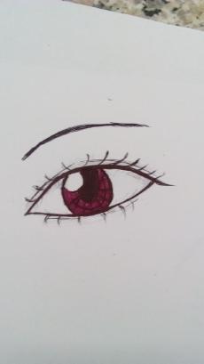 自学纸上圆珠笔画眼睛详细教程