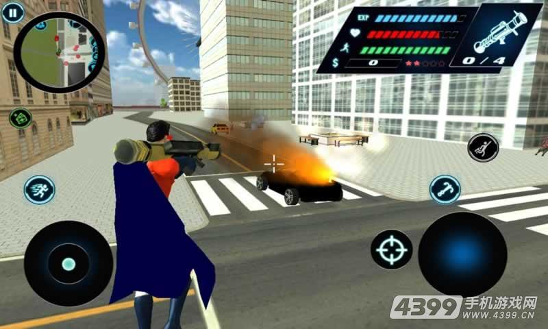 飞翔英雄3D游戏截图