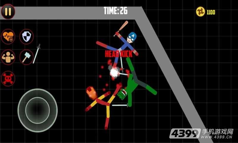 火柴人勇士双人格斗游戏截图