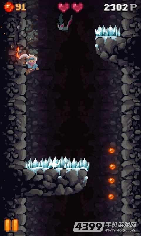 洞穴坠落游戏截图